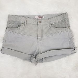 Forever 21 Contemporary Cuffed Jean Shorts Gray